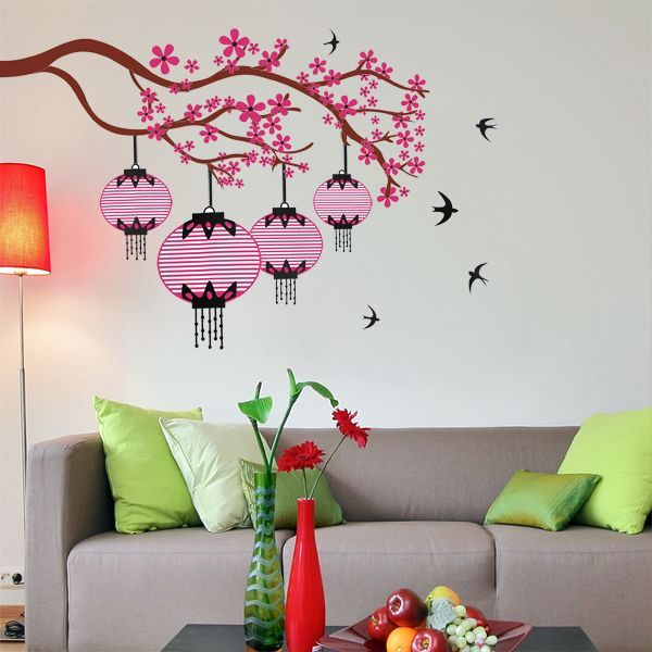 Miihome Removable Wall Sticker Lantern Price Review And Buy In - Wall decals dubai