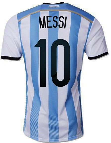 Lionel MESSI Number 10 Argentina national football soccer JERSEY ... 450e7177e