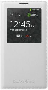 Smart S-View Flip Cover Case For Samsung Galaxy Note 3 With Sensor White