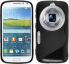 S Body Samsung Galaxy S5 K Zoom C115 TPU Gel Case Cover With Calans Screen Protector -(Black) (Mobile Phone Accessories)
