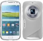 S Body Samsung Galaxy S5 K Zoom C115 TPU Gel Case Cover With Calans Screen Protector -(Clear) (Mobile Phone Accessories)