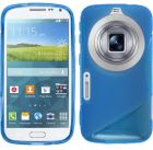 S Body Samsung Galaxy S5 K Zoom C115 TPU Gel Case Cover With Calans Screen Protector -(Blue) (Mobile Phone Accessories)