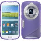 S Body Samsung Galaxy S5 K Zoom C115 TPU Gel Case Cover With Calans Screen Protector -(Purple) (Mobile Phone Accessories)