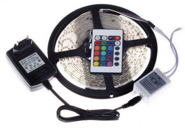 Rgb waterproof led strip with flexible light 3528 5m 300 led smd 3690 aed aloadofball Images