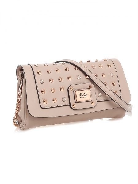 Guess Women's Geela Studded Flap Sling Bag [VR437521], price ...