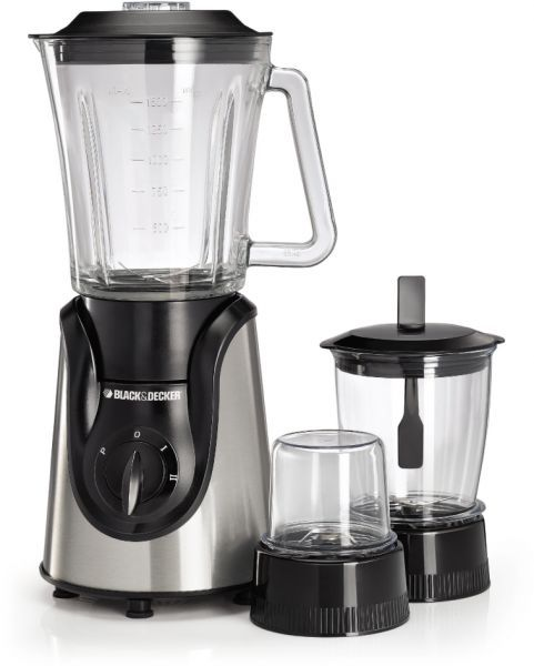 Black Decker 600w Gl Blender With Grinder And Mincer Chopper White Bx600g B5