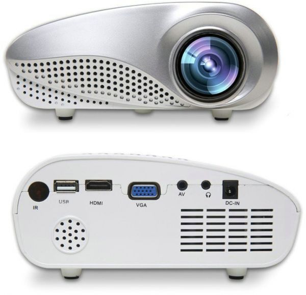 mini portable 60 lumens 1080p led projector and media