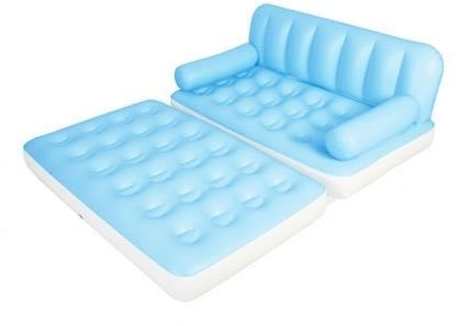 5 In 1 Air Sofa Bed With Built Electric Pump Light Blue 75038n