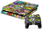 PlayStation 4 Vinyl Skin Sticker - Amazing Mixed Words, PS4 Decal (Games Gadgets & Accessories)