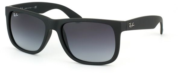 Ray-Ban Justin Wayfarer Unisex Sunglasses - Rubber Black- RB4165-601 ... 5e58bee7dd