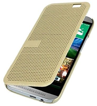 htc one m8 gold case. Dot View Case For HTC One M8 / Gold Htc D
