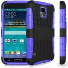 HDS Shock Proof Stand Case Cover For Samsung Galaxy S5 Mini With Screen Protector - Purple (Mobile Phone Accessories)