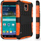 HDS Shock Proof Stand Case Cover For Samsung Galaxy S5 Mini With Screen Protector - Orange (Mobile Phone Accessories)