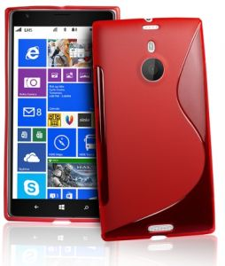 nokia lumia 1520 red. s body tpu case cover for nokia lumia 1520 with screen protector - red
