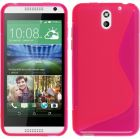 Calans S Body TPU Case Cover For HTC Desire 610 With Screen protector - Hot Pink (Mobile Phone Accessories)