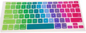 Rainbow Gradient Series Silicone Keyboard Cover Skin for MacBook Air 1...