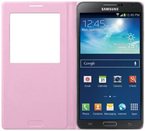 Samsung Galaxy Note 3 ( N9000 / N9005 ) S View Cover Case - Soft Pink