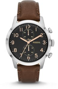 a78693f1a FOSSIL Townsman Chronograph Leather Watch - Brown FS4873