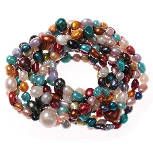 Buy Kyoto Pearl Women's Multi-Colored Stretchable Bracelet ...