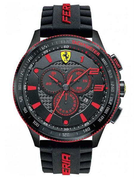 2c908ce4e Ferrari Scuderia XX For Men Black Dial Silicone Band Watch - 830138 | KSA |  Souq