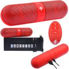 Pill Portable Shockproof Wireless Bluetooth Stereo Speaker For iPhone PC Samsung Red (Speakers)