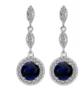 Swarovski Elements white gold plated crystal style Earring Glisten dia...