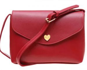 8519de564268 Small peach heart love single shoulder bag small bag ladies fashion bag .(WZBB Red)