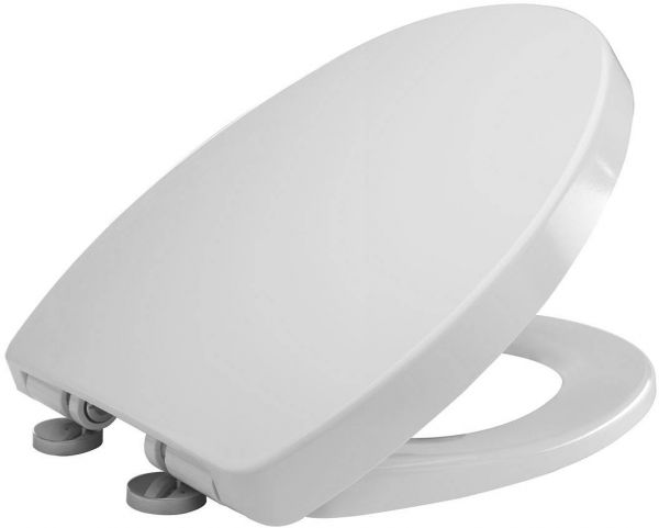 Slow close white toilet seat cover price review and buy for Bathroom accessories uae