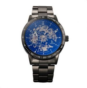 fc6acdff54 Hollow Transparent Dial Automatic Mechanical Watch for Men(IW003 Blue)