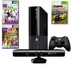 Microsoft Xbox 360 Stingray 4GB with Kinect, 1 Controller, Black Forza Horizon Kinect Sports Kinect Adventures (Game Console)