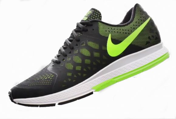 mens nike zoom pegasus 31 black green