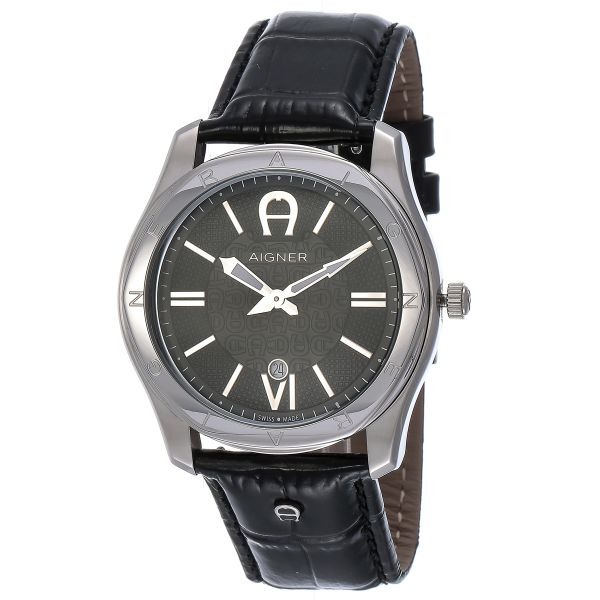 aigner lazio for men swiss made black dial leather band watch this item is currently out of stock