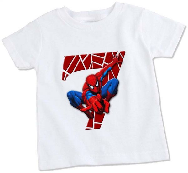 Spiderman 7th Birthday T Shirt