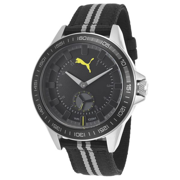 puma for men black dial fabric band watch puma pu103631004 this item is currently out of stock