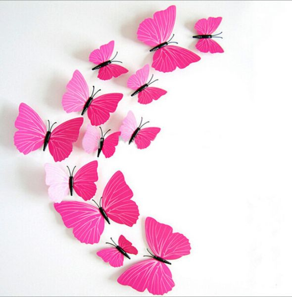 3D butterflies wall decoration - Rose, price, review and buy in ...