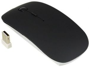 Wireless Optical Slim Mouse For PC Computer Laptop Black