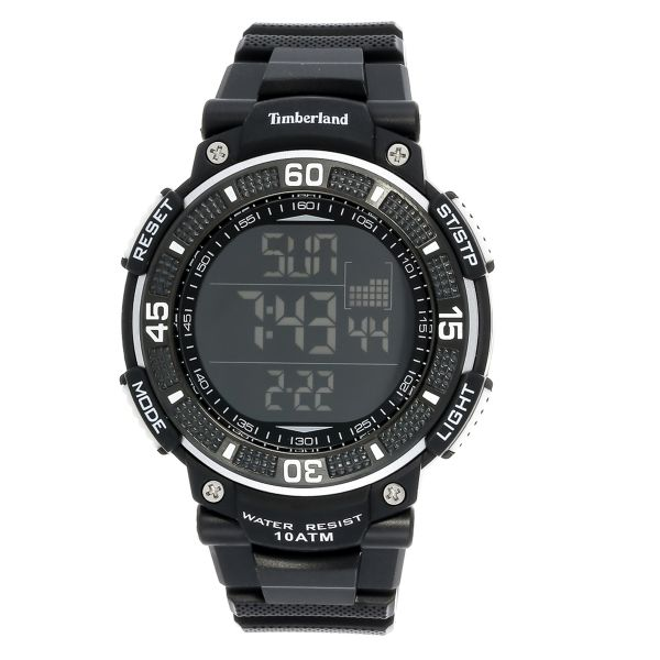 8df417d876a8 Timberland Cadion For Men Black Digital Dial Rubber Band Watch ...