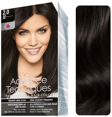 Advance Techniques Professional Hair Color - 2.0 Natural Black ...