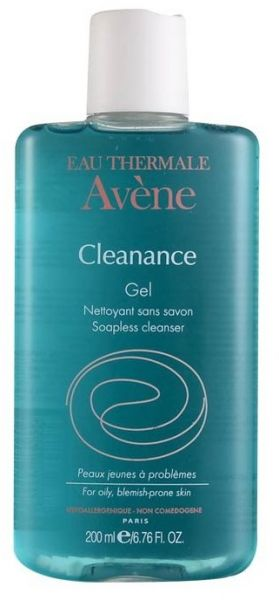 avène cleanance gel soapless cleanser