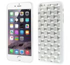 3D Check Rhinestone TPU Case Cover for iPhone 6 - White (Mobile Phone Accessories)