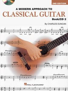 A Modern Approach To Classical Guitar Book 2 with CD by Charles Duncan, 1996
