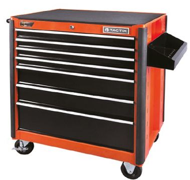 Tactix Wide Roll Away Cabinet, Black and Orange TTX-326027, price ...
