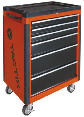 Tactix Wide Roll Away Cabinet, Black and Orange TTX-326024, price ...