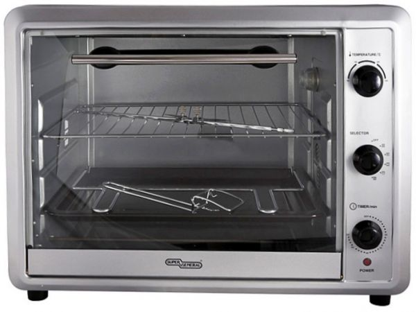 super general 42 liters electric oven black sge o046krc