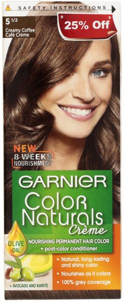 Garnier Color Naturals Crème - 5 1/2 Creamy Coffee, price, review ...
