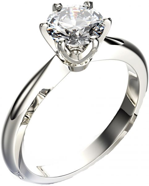 Buy 18k Gold and 0 25 ct solitaire Diamond Engagement Ring Rings