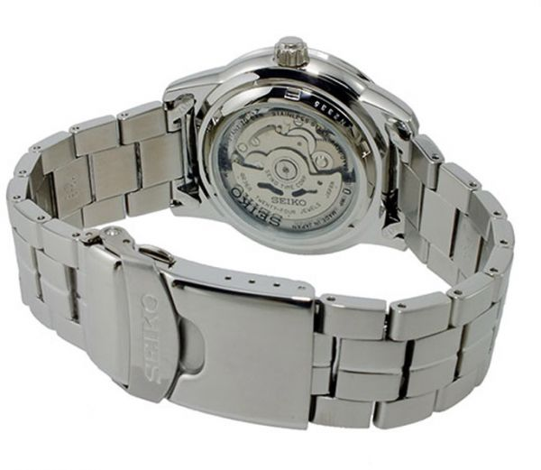 57a35dffbc74 Seiko 5 SRP335J1 Silver Dial Stainless Steel Mens Sports Automatic Watch