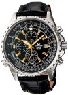 Casio Edifice Men's Black Chronograph Dial Leather Band Watch [EF-527L-1AV] (Watch)