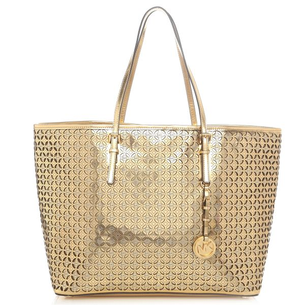 0ff6dc8c94d8 Michael Kors 30S4MWFT2V Medium Perforated Flower Travel Tote Bag for Women