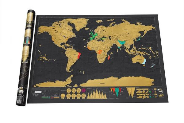 Deluxe world scratch map price review and buy in dubai abu deluxe world scratch map gumiabroncs Gallery